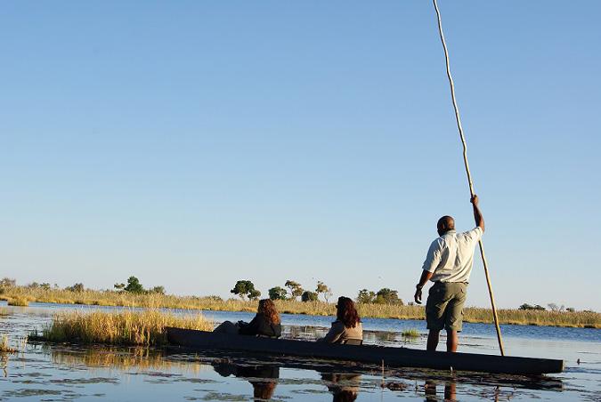 Exploring Okavango Delta by Boat